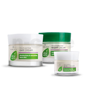 Aloe Vera Day Cream + Night Cream + Eye Cream